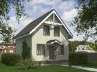 Проект одноэтажного дома с террасой и мансардой